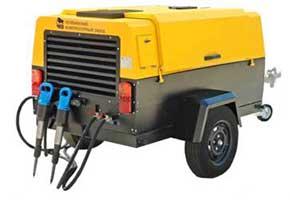 Аренда отбойных молотков,дизельный компрессор на авто- шасси, 4500 руб./смена